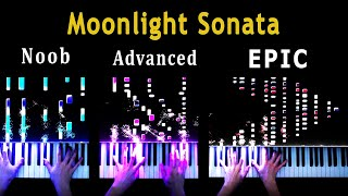 5 Levels of Moonlight Sonata: Noob to Epic