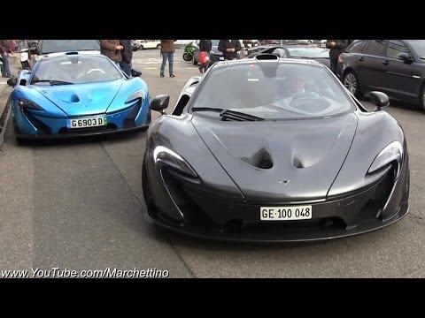 TWO McLaren P1s - Start Ups and Combo