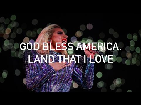Lady Gaga - God Bless America (from the Super Bowl LI halftime show, with lyrics)