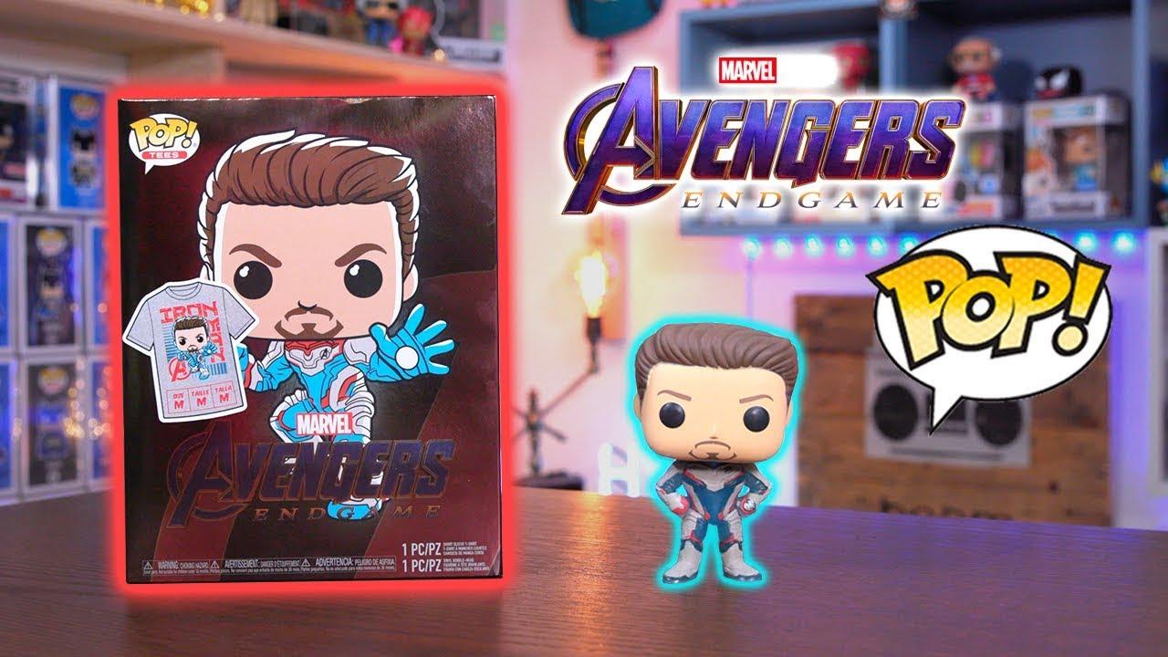 Endgame Avengers 4 Captain America GITD /& T-Shirt Box Set Funko Pop