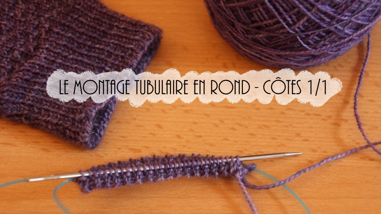 tricoter 4 rangs en maille tubulaire