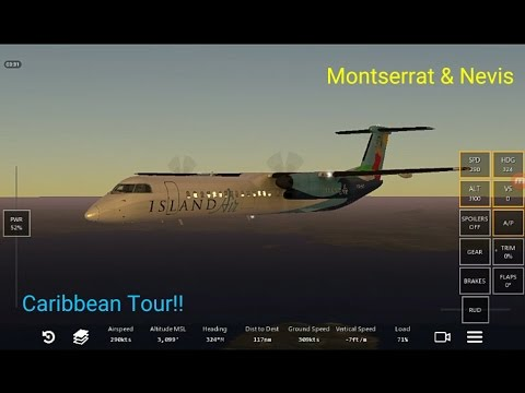 Infinite flight | (Caribbean Tour) | Guadeloupe to St.Kitts..