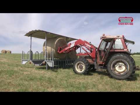 Ratelier à arceaux galvanisé sur roues