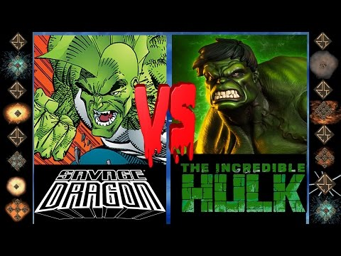 Savage Dragon (Image Comics) vs Incredible Hulk (Marvel Comics) - Ultimate Mugen Fight 2016