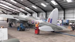Hangar tour Lincolnshire Aviation Heritage Centre October 2018.