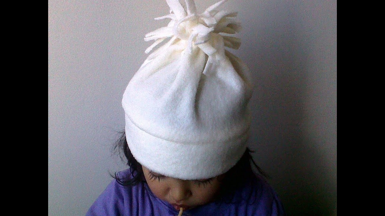 Como Hacer Gorros De Tela Para Bebes