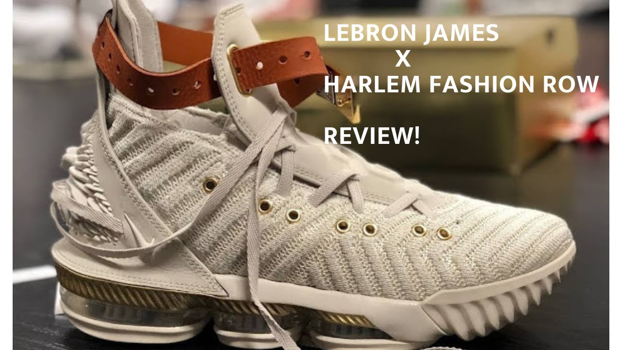 085371c161aa NIKE LEBRON 16 X HARLEM FASHION ROW - YouTube