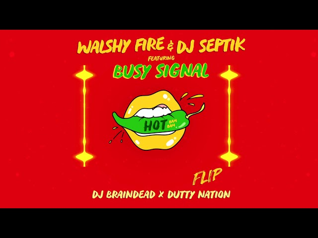 Walshy Fire & Dj Septik Ft. Busy Signal - Hot (Bam Bam) (Dj BrainDeaD x Dutty Nation Flip)