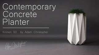 Kronen 90 concrete planter in white