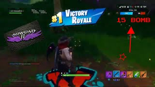 MY CARE PACKAGE NOW! 15 BOMB By UvO_ShwuadGOD (Fortnite Battle Royal)