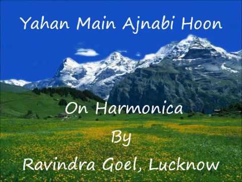 Yahan Main Ajnabi Hoon On Harmonica By Ravindra Goel, Lucknow