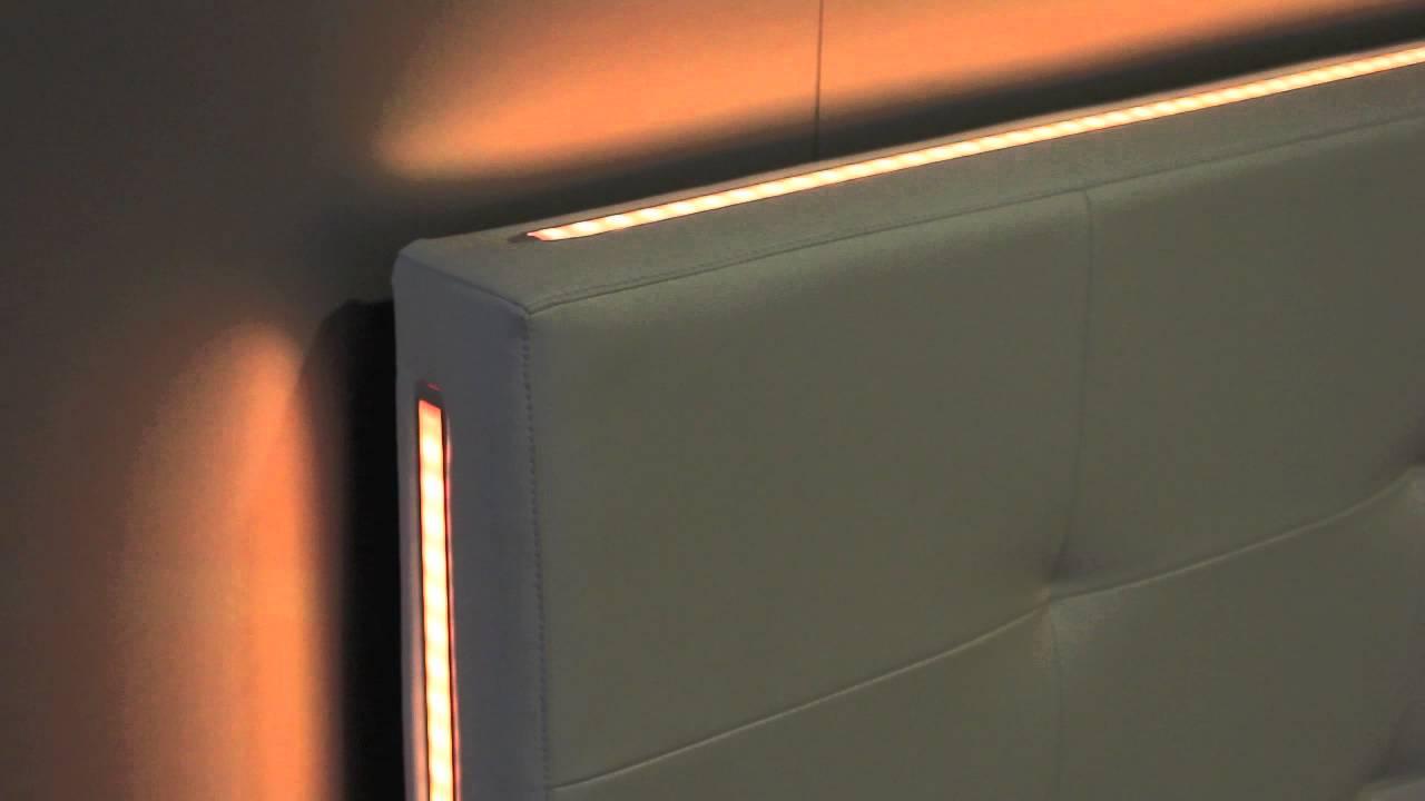 Letto Testata Letto LED WALL con LED RGB - YouTube