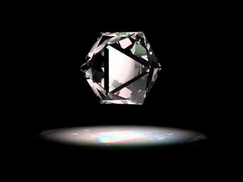 FREE LOOPING HD ANIMATION 3D Rotating Glass Prism diamond