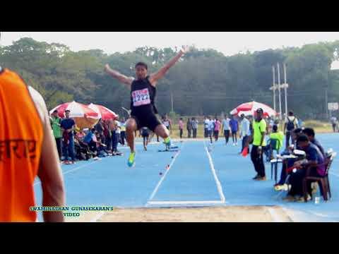 BOY'S U20  LONG JUMP FINAL. 33rd National Junior Athletics Championships 2017