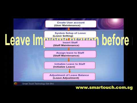 HRIS Software : Leave Management System tutorial : How to setup employee leave info particular