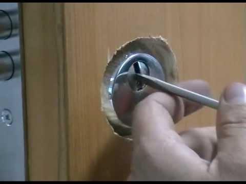 Высверливание Euro 252  Взлом замка EURO 252 методом высверливания (Взлом замка EURO 252 методом высверливания штифтов цилиндра KALE Ц2 (Арт. 164) в линию разъема ч