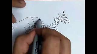 Draw a horse maze time lapse