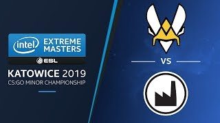 CS:GO - Vitality vs. Valiance [Dust2] Map 2 - LB Ro2a - IEM Katowice EU Minor 2019