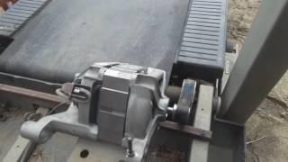 Беговая дорожка с мотором от стиралки..