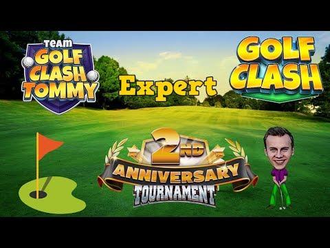 Golf Clash tips, Playthrough, Hole 1-9 - EXPERT - TOURNAMENT WIND! 2nd Anniversary Tournament!