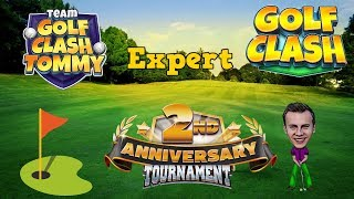 Golf Clash tips, Playthrough, Hole 1-9 - EXPERT - TOURNAMENT WIND! 2nd Anniversary Tournament!