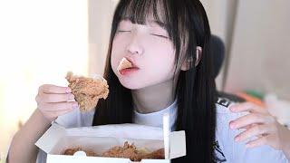 치킨 너무 맛있어 정신 나갈 것 같아...!