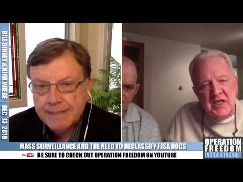 Famed NSA Whistleblowers Bill Binney & Kirk Weibe Let Loose on Declassification!