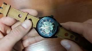 Часы Forsining Torres обзор и настройка. Механические часы скелетоны