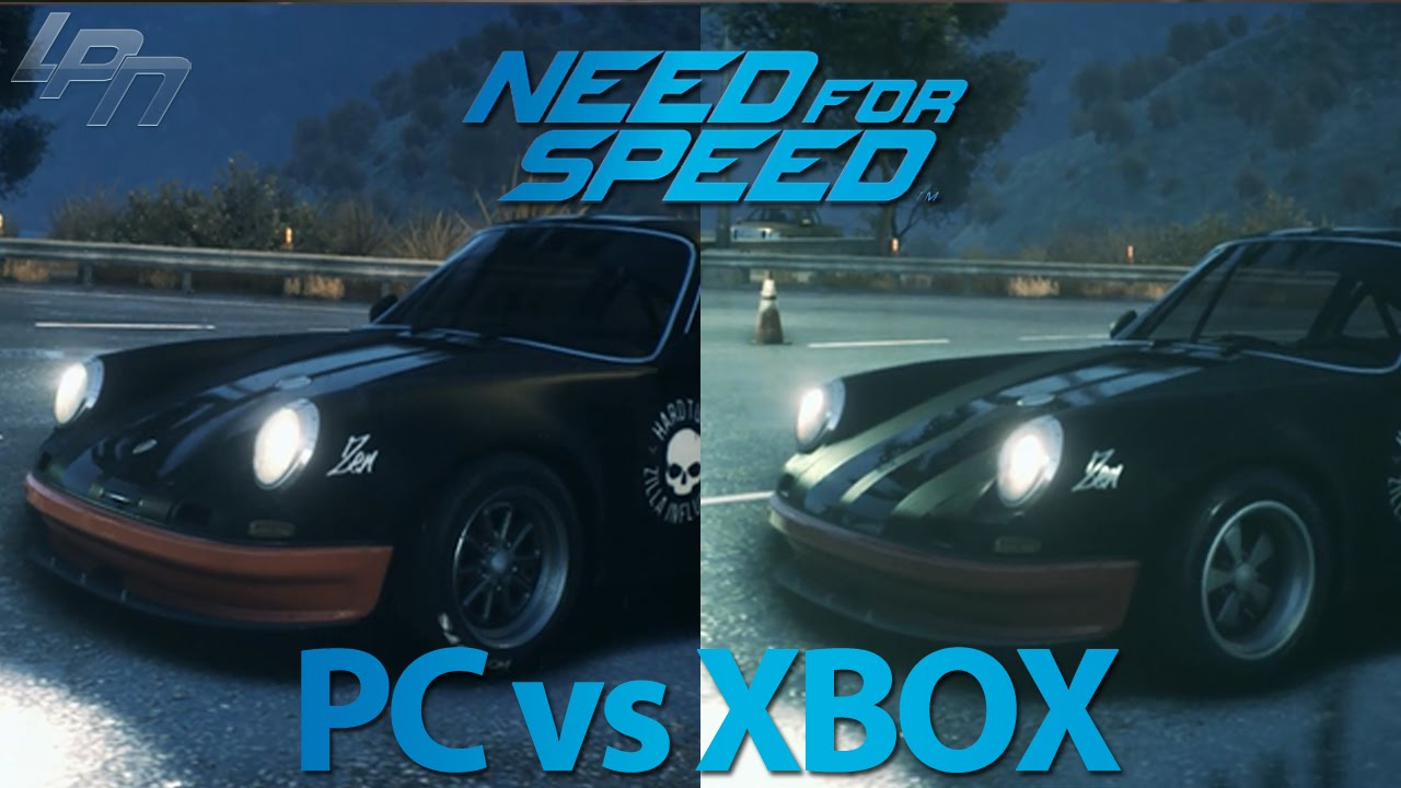 need for speed 2015 pc vs xbox one graphics comparison youtube. Black Bedroom Furniture Sets. Home Design Ideas