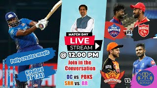Polly Magic Wins for MI over Csk| Match 28 and 29 IPL 2021| RR VS SRH| PBKS VS DC