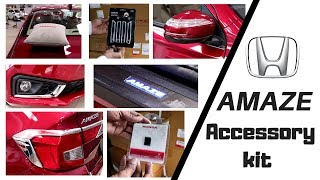 HONDA AMAZE accessory kit : Honda Genuine Amaze Accessory| HONDA AMAZE 2018|