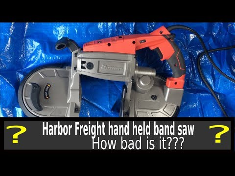 Harbor Freight Bauer hand held band saw review.