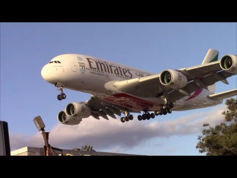 Newest Emirates A380-800 [A6-EOE] landing in Toronto on RWY 23
