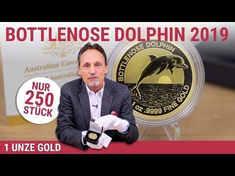 1 UNZE GOLD - BOTTLENOSE DOLPHIN 2019 - NUR 250 STÜCK