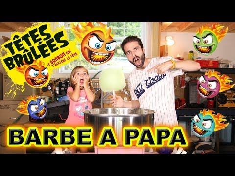 Crash test barbe papa t tes br l es youtube - Barbe a papa personnage ...