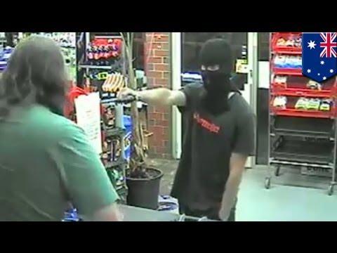 Умный грабитель и игрушечный пистолет