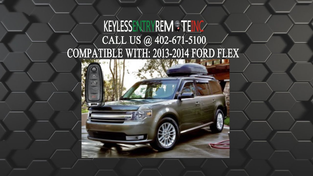 How To Replace A #Ford Flex Key Fob Battery 2011 - 2016 ...