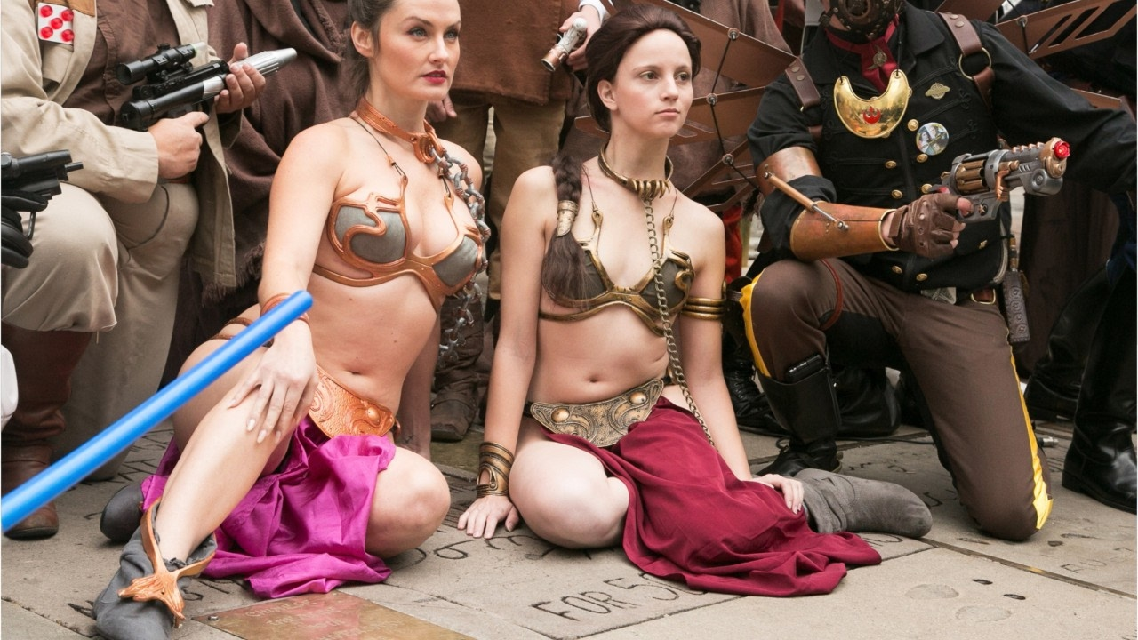 Videos of princess leia bikini, naked girls in summer camp