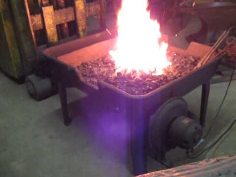 BLACKSMITH CHAMPION BLOWER & FORGE CO  COAL FORGE DEMO