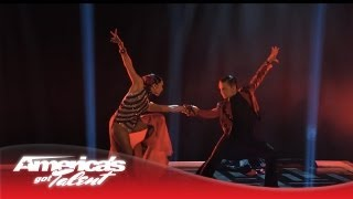 "D'Angelo & Amanda - Duo Dazzle in Dance to ""Unstoppable"" - America's Got Talent 2013"