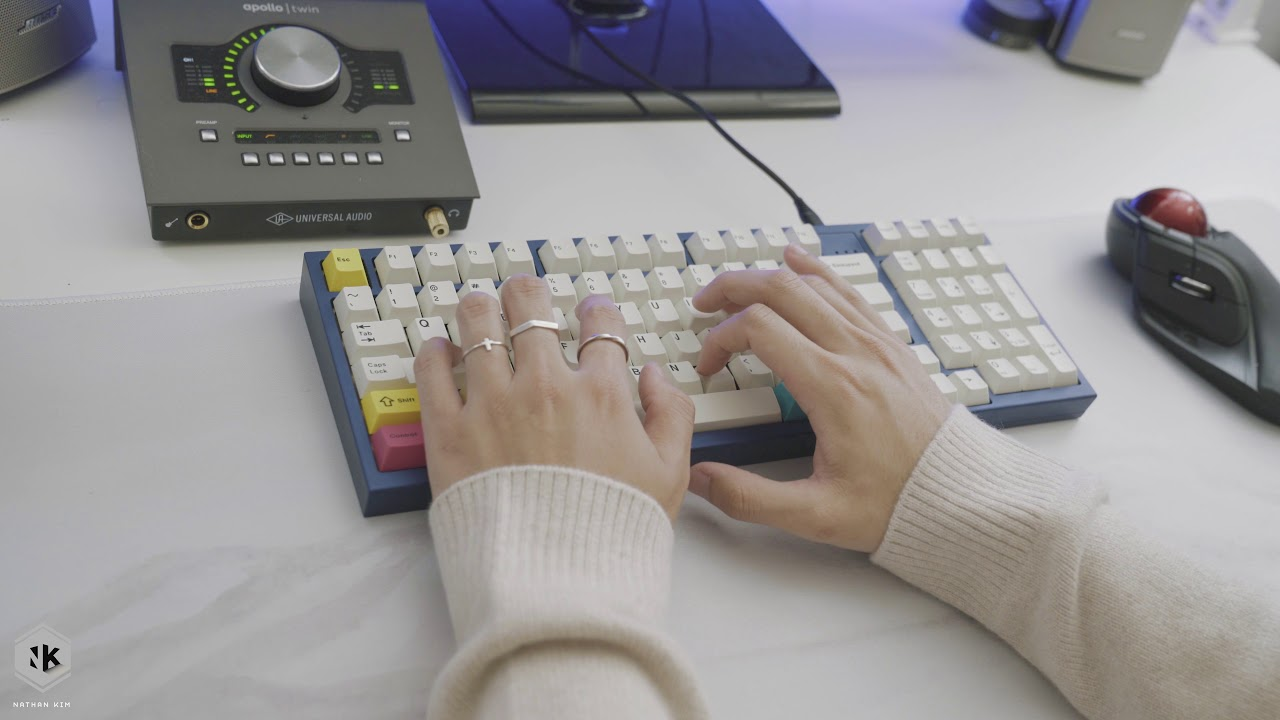 HBCP prototype with lubed Retooled Blacks Typing Sounds