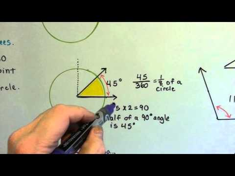 Grade 4 Math 11.2, Degrees of an Angle, Circle