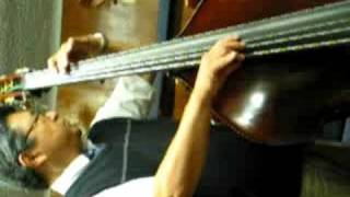 akira norose and his new christopher 5 string upright bass