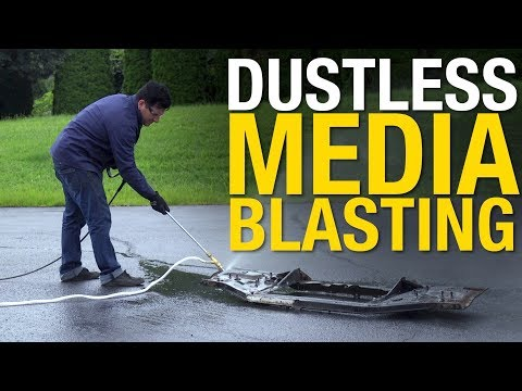Liquid Blasting At Eastwood To Remove Paint & Rust - Dustless Blasting With A Pressure Washer!