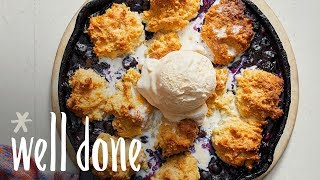 How to Make Easy Blueberry Cobbler | Recipe | Well Done