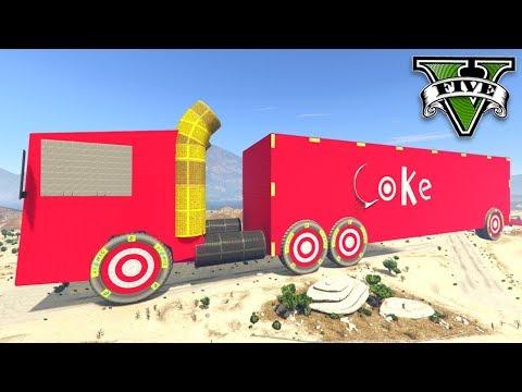 GTA V Online: O CAMINHÃO DA COCA-COLA GIGANTE!!! (INSANO)