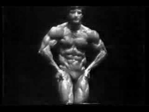 Bodybuilder Frank Zane Mr Olympia posing