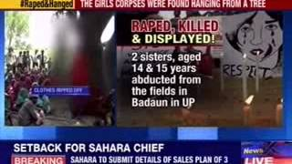 Sisters abducted, raped and hanged from tree in Badaun