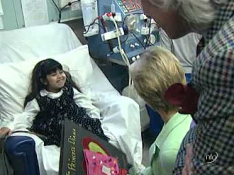 Princess Diana visits Great Ormond Street Hospital