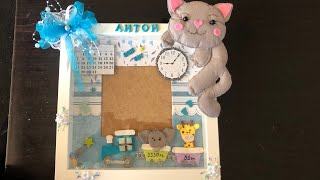 DIY: How to make frame for a newborn baby TUTORIAL